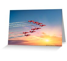 red arrows at duxford 2015 Greeting Card