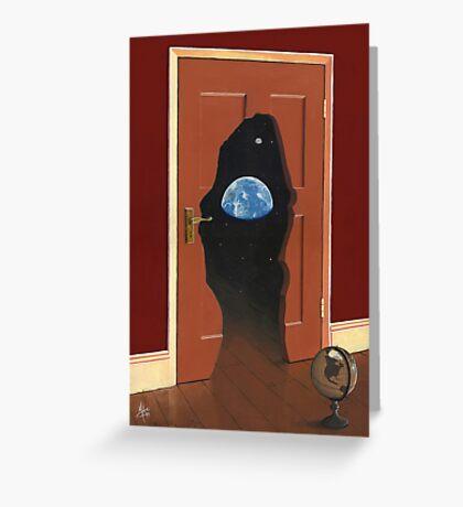 Beyond Magritte's Door Greeting Card