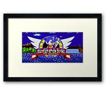 Sonic Retro Framed Print