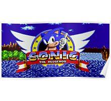 Sonic Retro Poster