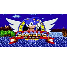 Sonic Retro Photographic Print