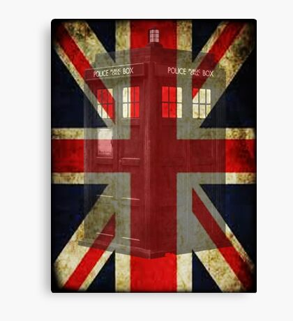 Union Tardis Canvas Print