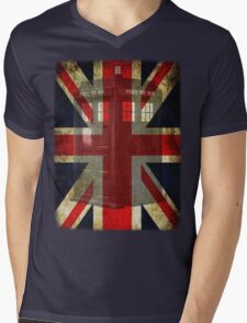 Union Tardis Mens V-Neck T-Shirt