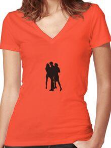 Blond girls Women's Fitted V-Neck T-Shirt