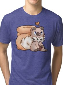 Rockruff Doughnuts Tri-blend T-Shirt