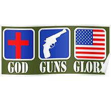 GOD GUNS GLORY Poster