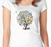 Fintess tree Women's Fitted Scoop T-Shirt