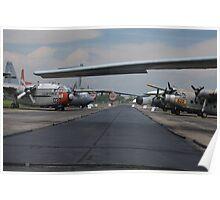 Flight Line Cargo Planes Poster