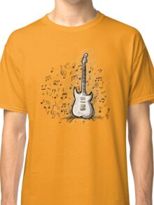 Art sketch of guitar design Classic T-Shirt