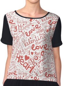Valentine seamless pattern Chiffon Top