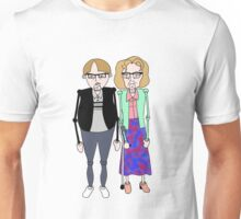 Maureen and David Sourbutts Psychoville inspired design Unisex T-Shirt