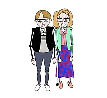 Maureen and David Sourbutts Psychoville inspired design Photographic Print