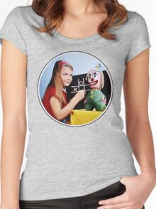 TV Testcard Women's Fitted Scoop T-Shirt
