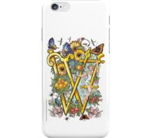 "The Illustrated Alphabet Capital  W  ""Getting personal"" iPhone Case/Skin"