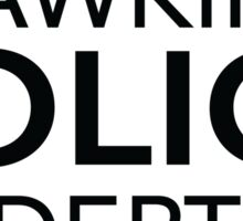 Hawkins Police Dept. Sticker
