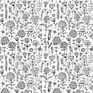 Floral pattern sketch by Kudryashka