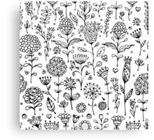 Floral pattern sketch Canvas Print
