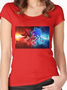 Sonic & Shadow Women's Fitted Scoop T-Shirt