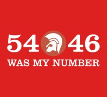 54-46  WAS MY NUMBER GIFT Kids Tee