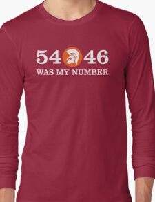 54-46  WAS MY NUMBER GIFT Long Sleeve T-Shirt