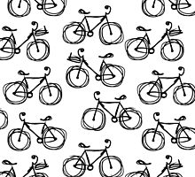 Bicycle sketch, seamless pattern by Kudryashka