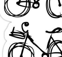 Bicycle sketch, seamless pattern Sticker