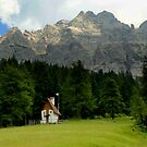 Alpine church at Passo Duran by annalisa bianchetti