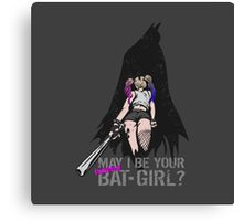 May I Be Your baseball Bat-Girl? Canvas Print