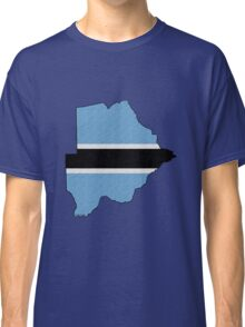 Botswana Map With Flag Classic T-Shirt