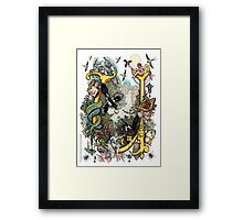 """The Illustrated Alphabet Capital  U  """"Getting personal"""" Framed Print"""