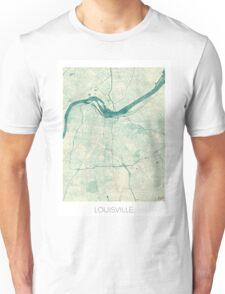 Louisville Map Blue Vintage Unisex T-Shirt