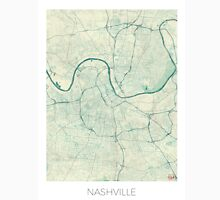 Nashville Map Blue Vintage Unisex T-Shirt