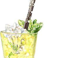 Music is Everyone's Daiquiri - Bass Clarinet by didielicious