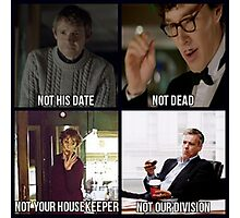 Sherlock BBC Cast Photographic Print
