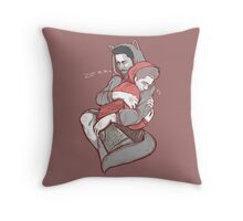 Wolfie snuggle Throw Pillow
