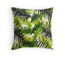 Palm Leaf Vector Pattern Throw Pillow