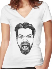 Simon Neil Illustration Women's Fitted V-Neck T-Shirt