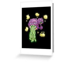 acid vomiting weezing Greeting Card