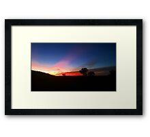 The Australian Outback at Sunset Framed Print