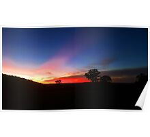 The Australian Outback at Sunset Poster