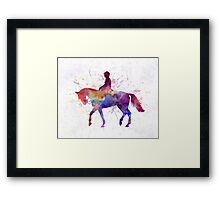 Horse show 02 in watercolor Framed Print