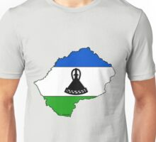 Lesotho Map With Flag of Lesotho Unisex T-Shirt