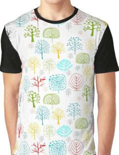 Seamless pattern with trees Graphic T-Shirt