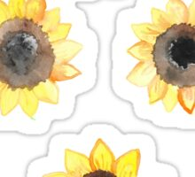 Cheerful Watercolor Sunflowers Sticker