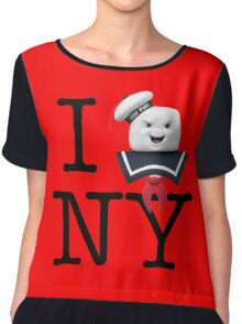 Ghostbusters - I Stay Puft New York Chiffon Top