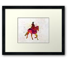 Horse show 03 in watercolor Framed Print