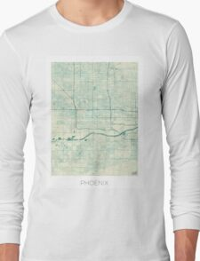 Phoenix Map Blue Vintage Long Sleeve T-Shirt