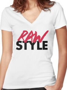 Dirty Rawstyle Music Quote Women's Fitted V-Neck T-Shirt
