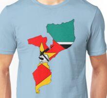 Mozambique Map With Mozambique Flag Unisex T-Shirt