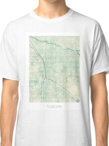 Tuscon Map Blue Vintage Classic T-Shirt